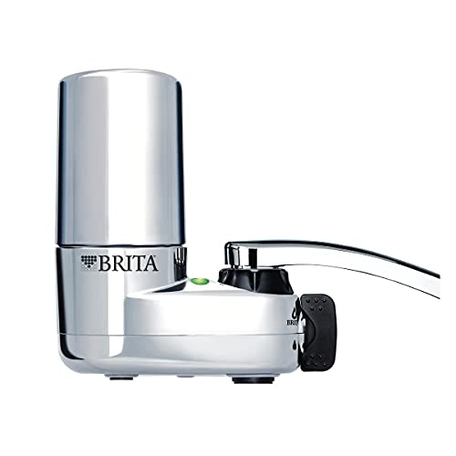 Brita Basic Faucet Water Filter System, Chrome, 1 Count