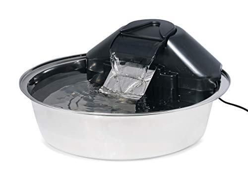 PetSafe Drinkwell Zen Stainless Steel Dog and Cat Water Fountain, Pet Drinking Fountain, 128 oz....
