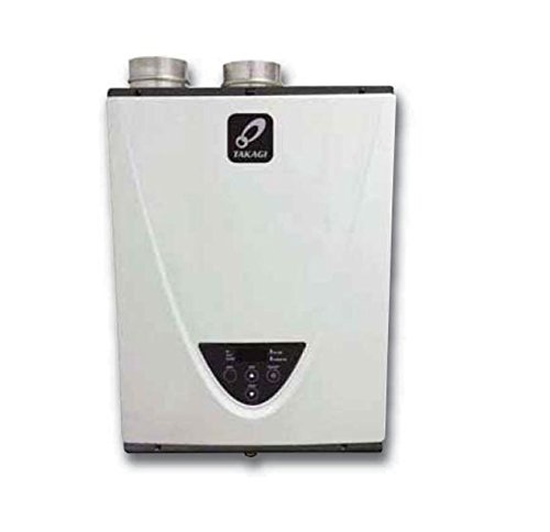 Takagi T-H3-DV-N Condensing High Efficiency Natural Gas Indoor Tankless Water Heater, 10-Gallon Per...