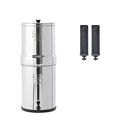 Imperial Berkey Gravity-Fed Water Filter with 2 Black Berkey Purification Elements