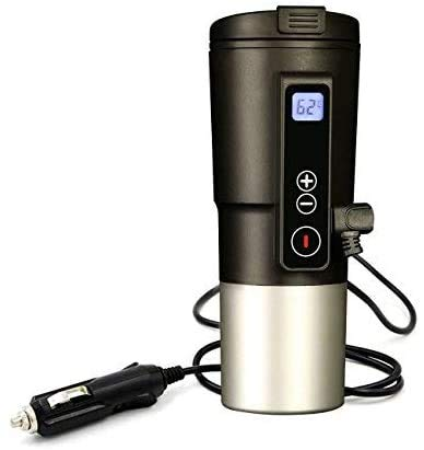 Smart Temperature Control Travel Coffee Mug EAST MOUNT Electric heated Travel Mug 12V Stainless...