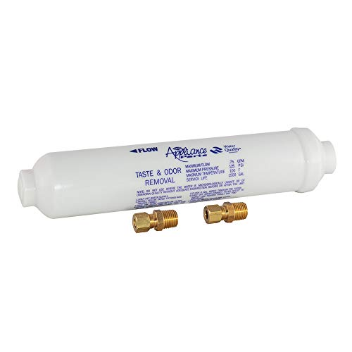 EZ-FLO 60461N In-Line Water Filter for Taste and Odor, 10' Length, White