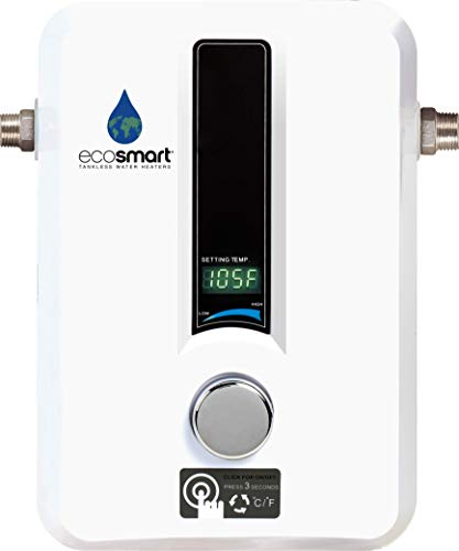 EcoSmart ECO 11 Electric Tankless Water Heater, 13KW at 240 Volts with Patented Self Modulating...
