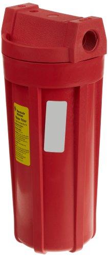 Pentek 150015 3/4' #10 Standard High Temperature Red Filter Housing