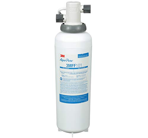 3M Aqua-Pure Under Sink Full Flow Drinking Water Filter System 3MFF100, Sanitary Quick Change,...