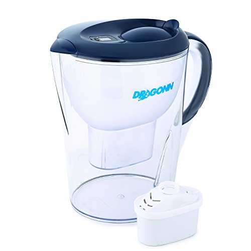 DRAGONN Alkaline Water Pitcher - 3.5 Liters, Free Filter Included, Removes Lead, Chlorine, Copper...