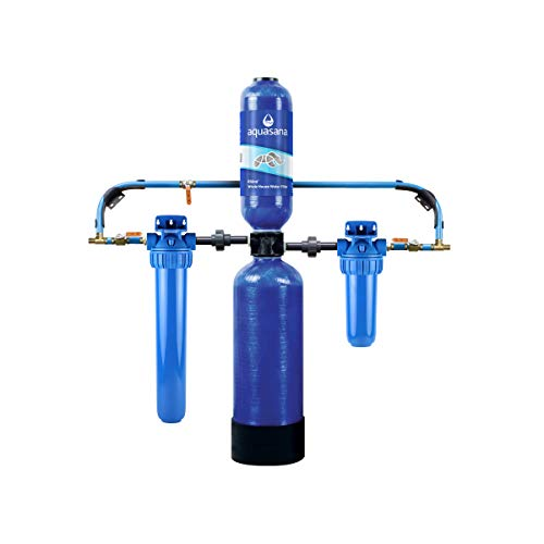 Aquasana Whole House Water Filter System - Carbon & KDF Home Water Filtration - Filters Sediment &...