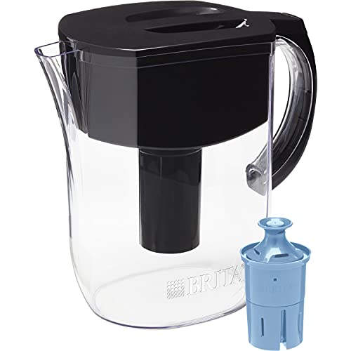 Brita Longlast Everyday Water Filter Pitcher, Large 10 Cup 1 Count, Black
