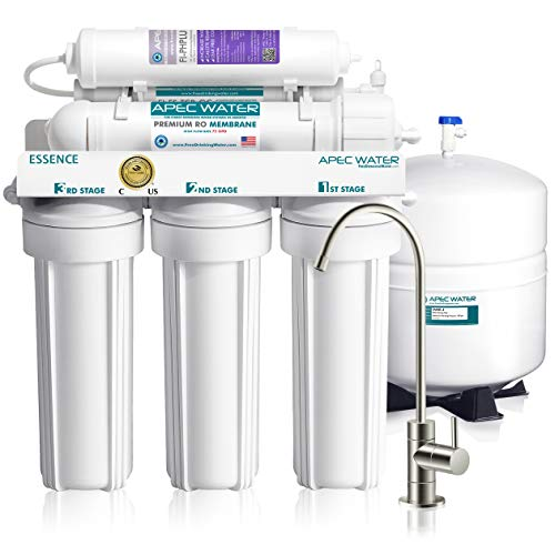APEC Water Systems ROES-PH75 Essence Series Top Tier Alkaline Mineral pH+ 75 GPD 6-Stage Certified...