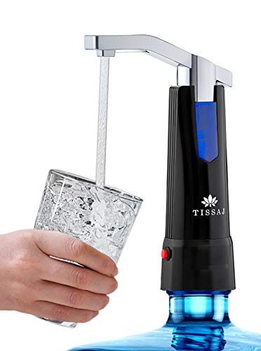 Drinking Water Bottle Dispenser Pump - Portable Compact Electronic Rechargeable Automatic...