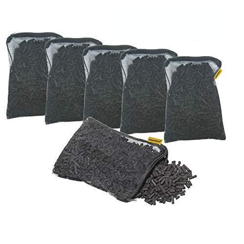 Aquapapa 6 lbs Activated Carbon Charcoal Pellets in 6 Mesh Bags for Aquarium Fish Tank Koi Reef...