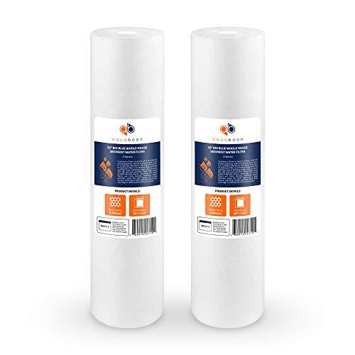 Aquaboon 5 Micron 20' Big Blue Sediment Water Filter Replacement Cartridge | Whole House Sediment...