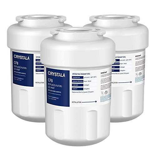 Crystala MWF Water Filters for GE Refrigerators, NSF/ANSI 53&42 Certified GE Water Filter...