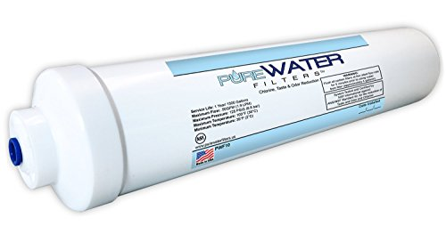 Inline Water Filter For Refrigerators, Ice Makers, Coffee Makers, Water Fountains, Water Coolers,...