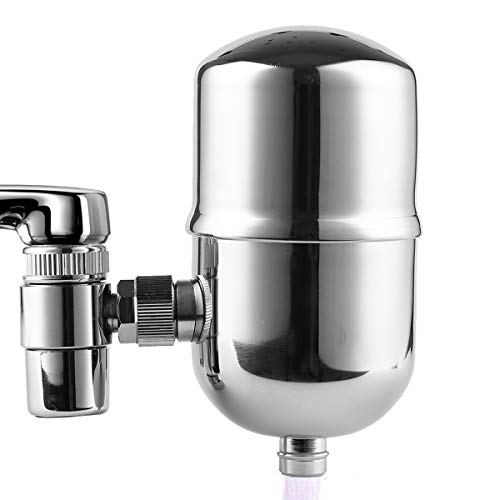 Engdenton Faucet Water Filter Stainless-Steel Reduce Chlorine High Water Flow, Water Purifier with...