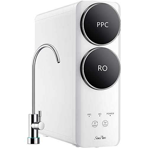 SimPure RO Reverse Osmosis Water Filtration System, Q6 Water Filter System, Tankless 400 GPD Fast...