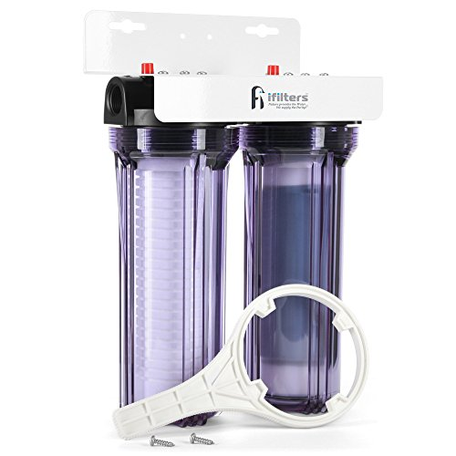 iFilters Whole House 2 Stage Sediment, Rust & CTO Filters w/ AP110 & AP117 Comparable Cartridges...