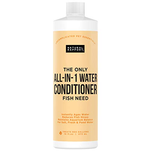 Natural Rapport Aquarium Water Conditioner - The Only All-in-1 Water Conditioner Fish Need -...