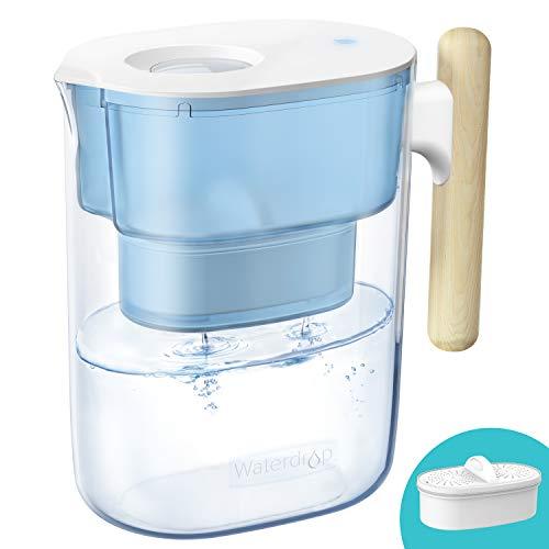 Waterdrop Chubby 10-Cup Water Filter Pitcher with 1 Filter, Long-Lasting (200 gallons), NSF...