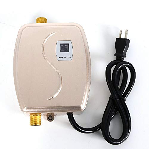 Tankless Hot Water Heater System 110V 3000W Mini Instant Electric Water Heater Portable Wall Floor...