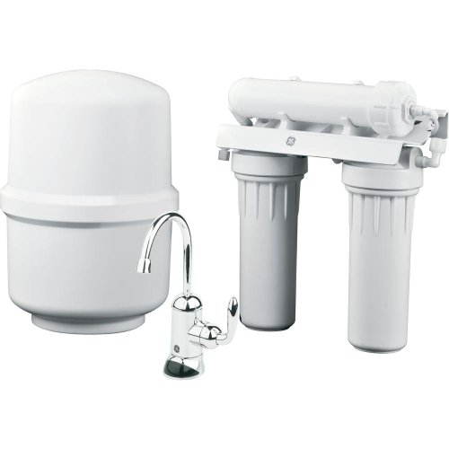 General Electric Appliances Reverse Osmosis Under Sink 3 Stage Water Filtration System GXRM10RBL...