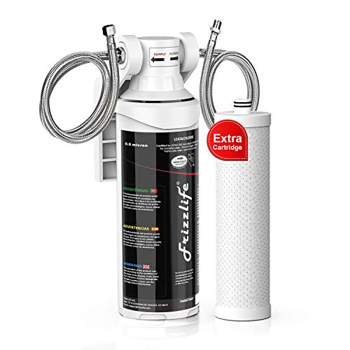 Frizzlife Under Sink Water Filter System-High Capacity Direct Connect Under Counter Drinking Water...