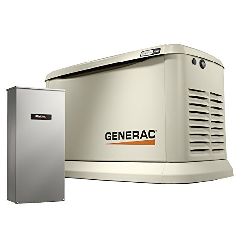 Generac 7043 Home Standby Generator 22kW/19.5kW Air Cooled with Whole House 200 Amp Transfer Switch,...