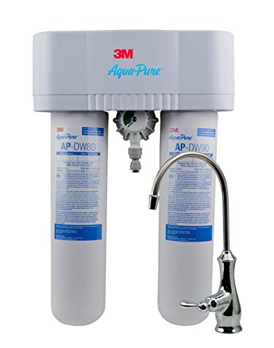 3M Aqua-Pure Under Sink Water Filter System AP-DWS1000, Dedicated Faucet, Reduces Particulate,...