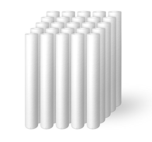 Ronaqua S10-20X25 10 Micron 20-Inch x 2.5-Inch Sediment Filter Cartridges, 25-Pack