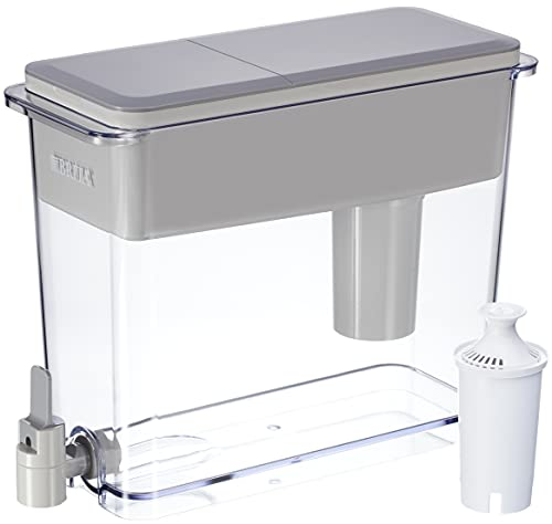 Brita Extra Large 18 Cup Filtered Water Dispenser with 1 Standard Filter, Made without BPA,...