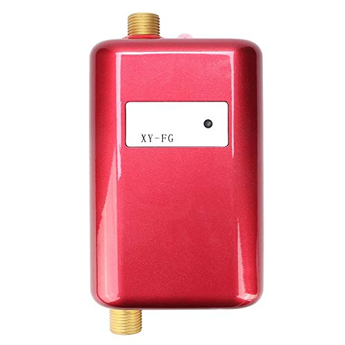 Simlug Instant Water Heater, Tankless Water Heater, Red Mini Bathroom Kitchen Washing Electric...