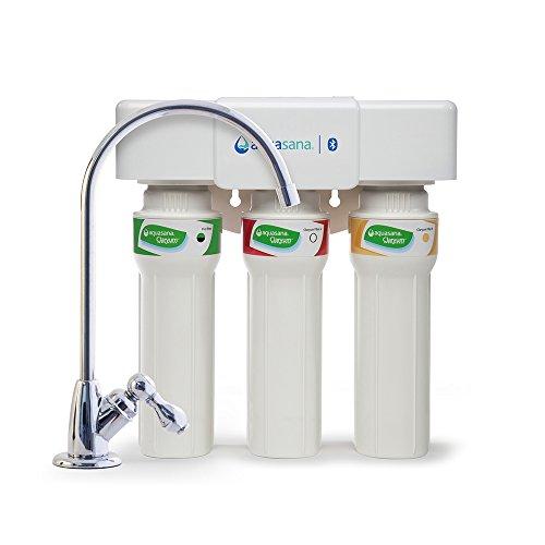 Aquasana AQ-5300+ Kitchen Counter Filtration 99% of Chloramine-Chrome 3-Stage Max Flow Claryum Under...