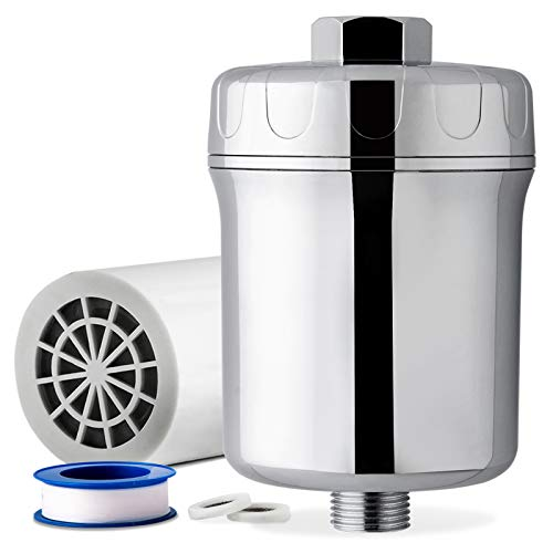 iSpring SF1S 15-Stage High Output Universal Shower Filter with Replaceable Cartridge Remove...