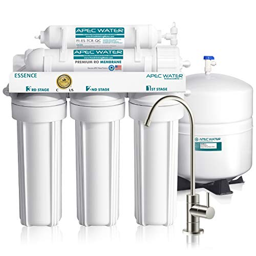 APEC Water Systems ROES-50 Essence Series Top Tier 5-Stage Certified Ultra Safe Reverse Osmosis...