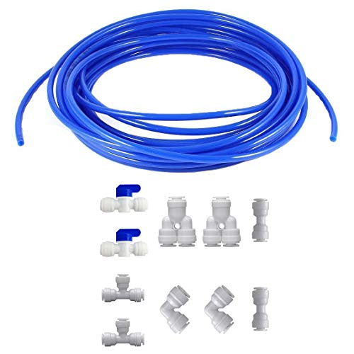Neeshow 1/4' Quick Connect Water Purifiers Tube Fittings for RO Water Reverse Osmosis System Pack Of...