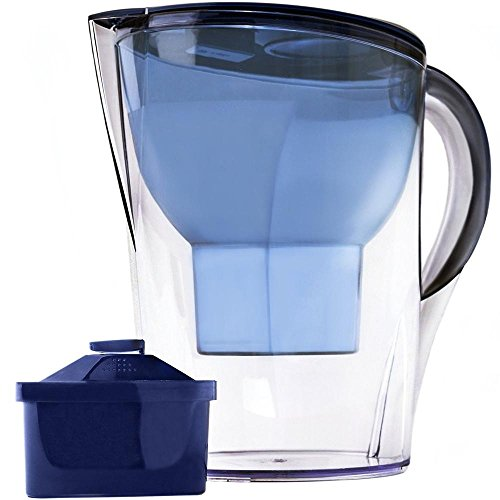 The Alkaline Water Pitcher - 3.5 Liters, Free Filter Included, 7 Stage Filteration System to Purify...