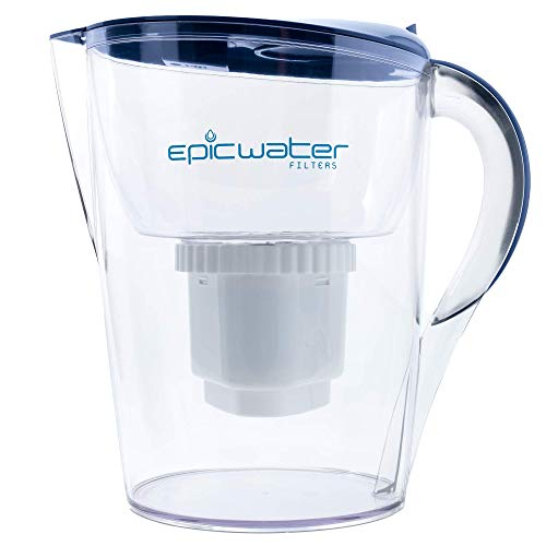 Epic Pure Water Filter Pitchers for Drinking Water, 10 Cup 150 Gallon Long Last Filter, Tritan BPA...