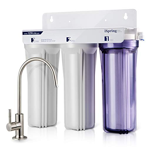 iSpring US31 Classic 3-Stage Under Sink Water Filtration System for Drinking, Tankless, High...