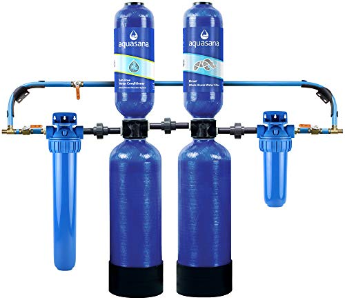 Aquasana Whole House Water Filter System - Water Softener Alternative - Salt-Free Conditioner,...