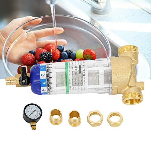 TUQI Home Reusable Sediment Water Filter Spin Down Mesh System Hot Water Filter 3/4'