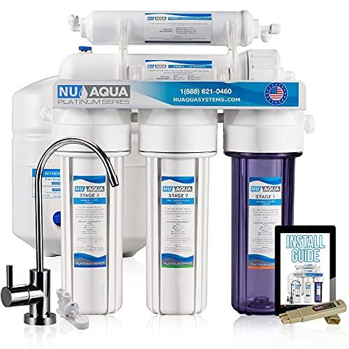 NU Aqua Platinum Series Deluxe High Capacity 100GPD 5-Stage Under Sink Reverse Osmosis Ultimate...