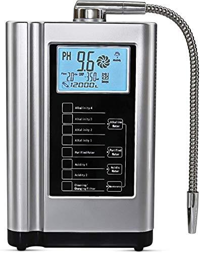 AquaGreen Alkaline Water Ionizer Machine AG7.0, PH 3.5-10.5 Water Purifier, Multifunctional Water...