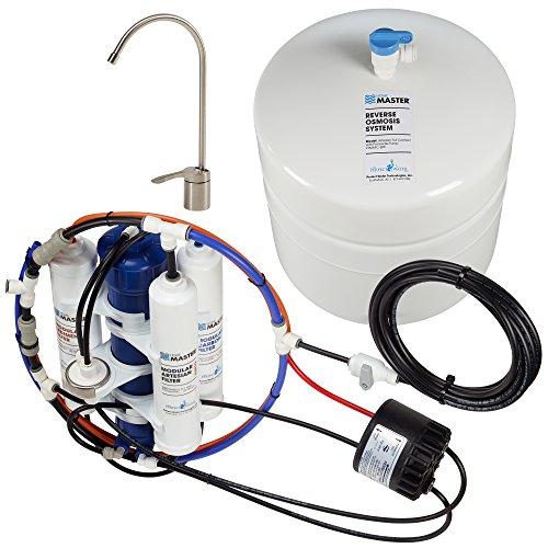 Home Master TMAFC-ERP-L Artesian Full Contact with Permeate Pump Loaded Undersink Reverse Osmosis...