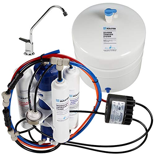 Home Master TMAFC-ERP Artesian Full Contact Undersink Reverse Osmosis Water Filter System , White