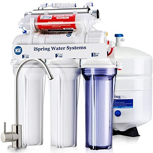 iSpring RCC7AK-UV, NSF Certified, 75GPD 7-Stage Under Sink Reverse Osmosis RO Drinking Water...