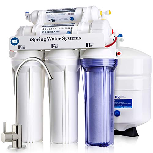 iSpring RCC7, NSF Certified, High Capacity Under Sink 5-Stage Reverse Osmosis Drinking Filtration...