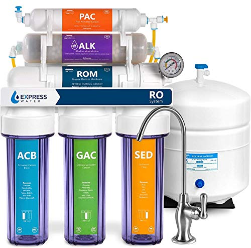 Express Water - ROALK10DCG Reverse Osmosis Alkaline Water Filtration System – 10 Stage RO Water...