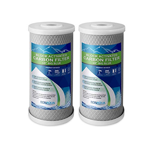 Big Blue CTO Carbon Block Water Filters 4.5' x 10' Whole House Cartridges WELL-MATCHED with CBC...