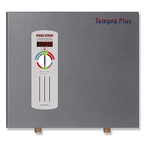 Stiebel Eltron Tempra Plus 29 kW, tankless electric water heater with Self-Modulating Power...