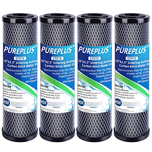 1 Micron 2.5' x 10' Whole House CTO Carbon Water Filter Cartridge Replacement for Countertop Water...
